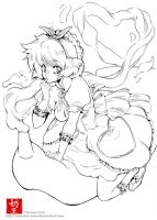Sugar Witch- line art by The-Nai