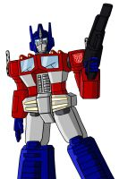 Optimus Prime by mmcfacialhair