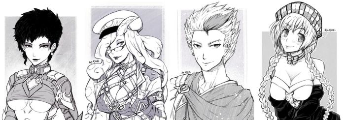 Promotion Sketches 2017 by nidoriko