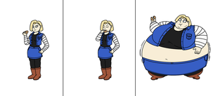 Dragon Butter Ball Android 18 by MissMalleable