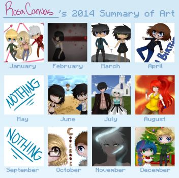 2014 Summary Meme by RosaCanvas