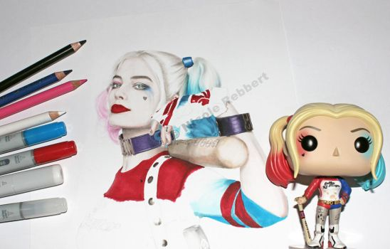 Harley Quinn WIP by Quelchii