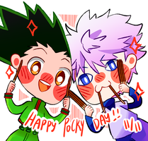 HxH: Happy Pocky Day! by AukiBiya