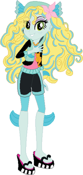 Lagoona Blue in Equestria Girls style by user15432