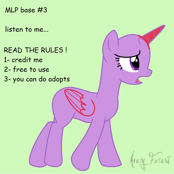 Mlp Base no:3 listen to me... by S-leepyNight