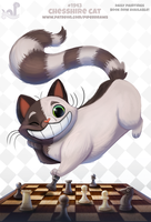 Daily Paint 1943# Chesshire Cat by Cryptid-Creations