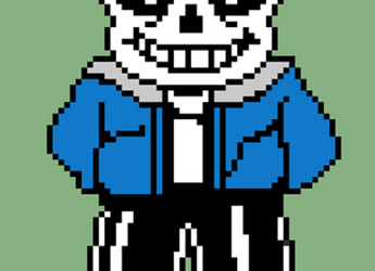 Stand-in Pixel Art - Sans by Triangle-cat