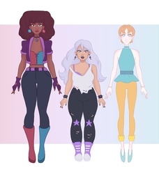 Crystal gems human designs by Tigrelilytea