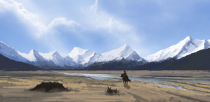 Mountain Sketch by HazPainting