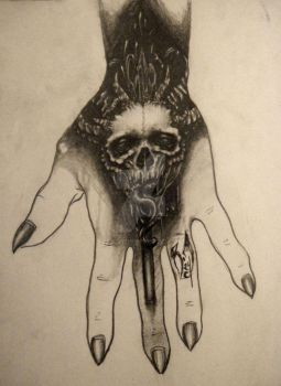 Hand Tattoo design by WickedHands