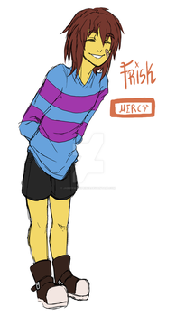 Frisk design by JabberwockPrince