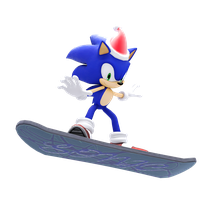 Sonic on his Snowboard by JaysonJeanChannel