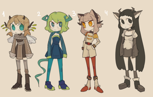 (CLOSE) HUMANOID ADOPTABLES by aeternoria