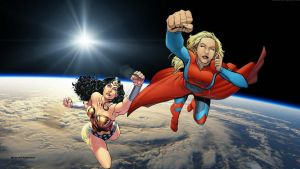 Wonder Woman Wallpaper - Supergirl In Space by Curtdawg53