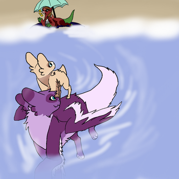 Time to swim by spottedshine