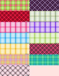 Plaid Patter Set 2 by kvaughnp3