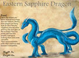 Sapphire dragon by flannery123