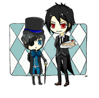 Black Butler by QueenJellybeany