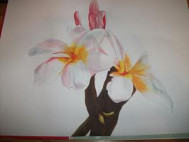flower painting by UndertakerisEpic