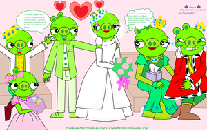 Freckles's and Piglette's Royal Wedding by MeganLovesAngryBirds