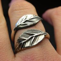 Leaf ring wrap by Vansee-Jewelry