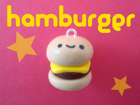 Hamburger Charm by Craftytoria2PM