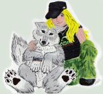 So this is me and my wolf form by Cally-Dream