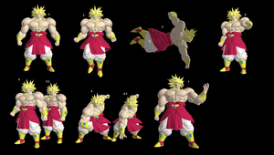 DBFZ Broly Pose Pack by WOLFBLADE111