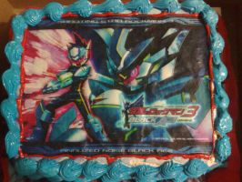 Megaman Black-Ace Cake by Decora-Girl-Nyappy