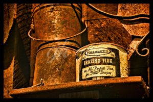 Abandoned Machine Shop - Brazing Flux by cjheery