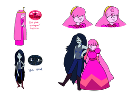 PB and Marceline as Crystal Gems by Toodlenoodle