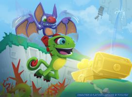 Yooka Laylee ready for action! by foolyguy