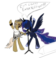 Luna and Hetfield by SpaceHunt
