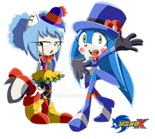Here come the Mobian Clown girls! by YukiCos