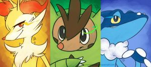 Pokemon XY  second level starters