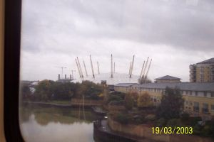 o2 Arena from DLR by CooroSnowFox