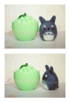 Needle Felted Totoro by ShadowedPorcelain