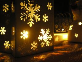 Christmas Candle Decor by Andrakax