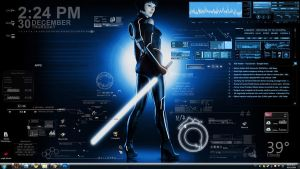 tron jedi + rainmeter by vlad7840