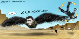 Dominion S1.05 manga : The lesson is over, Alex by noji1203