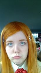 Orihime in the car by Shirara-chan