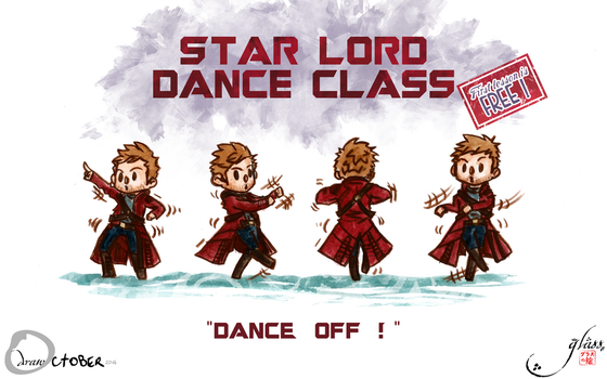 Drawctober #24 - Star Lord Dance Class by Glass-no-E