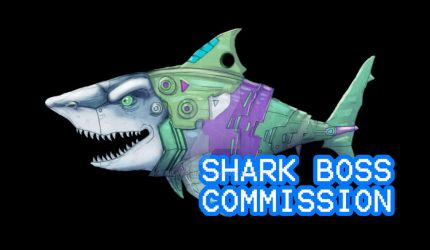 Cyborg Shark Animated sprite commission by Silver-Ray