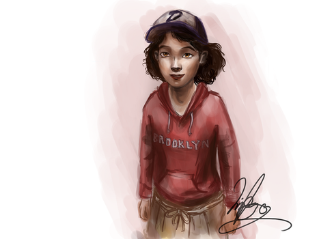 Clementine being adorable - The Walking Dead by Elizeon