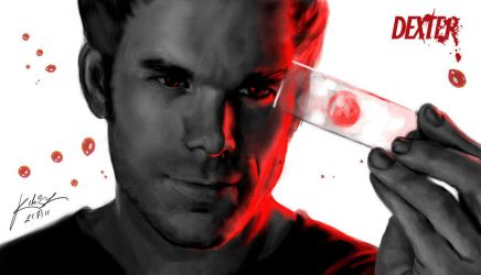 Portrait - Dexter Morgan by KimiSz