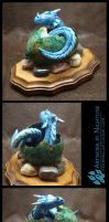 Dragon Hatchling Sculpture - Turquoise by Nightlyre
