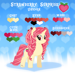 Strawberry Surprise Reference Sheet [Gift] by StitchPatchRepeat