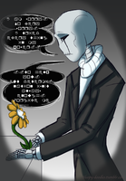 Flowey and Gaster by PixelSparrow
