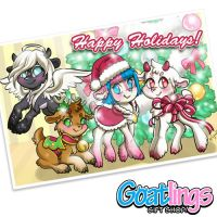 Goatlings holiday card by Kris-Goat