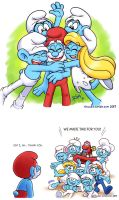 Smurfs: Happy Papa's Day by rinacat